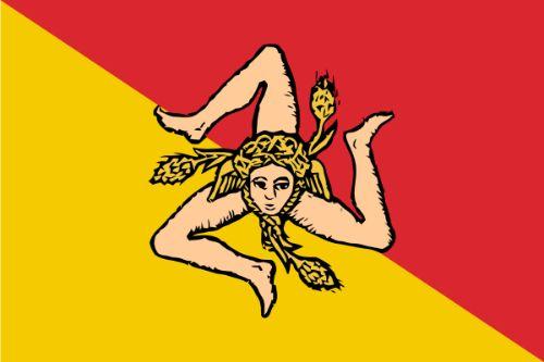 Mucho mas que novios. Bandera sicilia